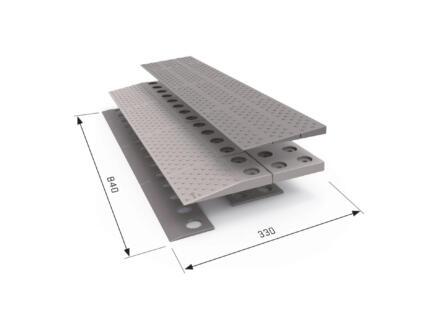 Modulaire drempelhulp 2 laags 84x33 cm grijs