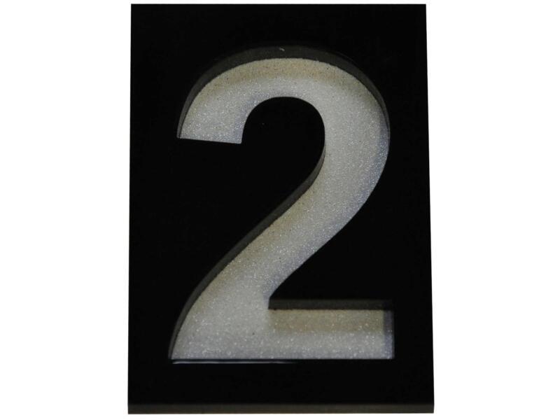 Module chiffre numéro 2 5x7 cm