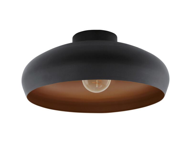 Eglo Mogano plafondlamp E27 max. 60W zwart/koper