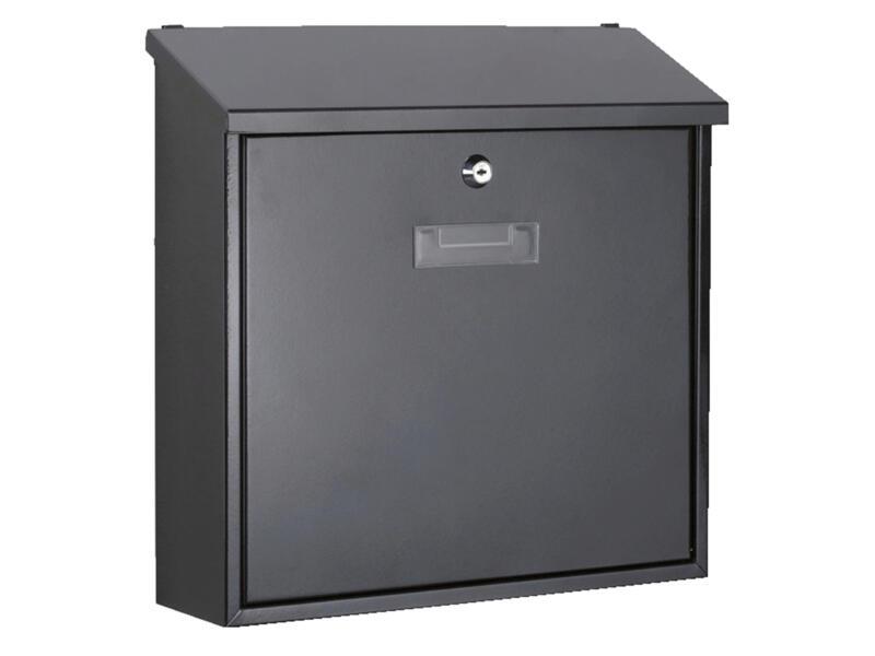 Perel Monaco brievenbus gegalvaniseerd staal zwart