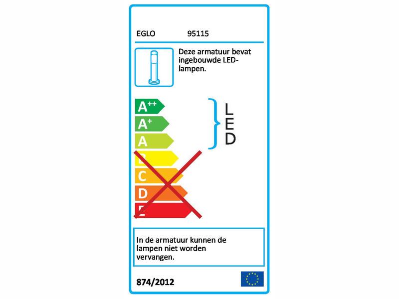 Eglo Monfero H-500 LED tuinpaal 7W antraciet