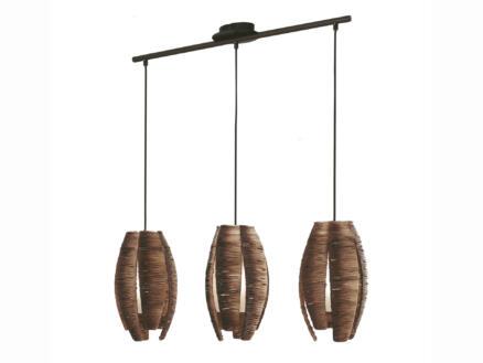 Eglo Mongu hanglamp E27 3x60 W bruin