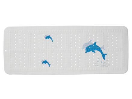Sealskin Montreal tapis antidérapant baignoire 92x36 cm blanc/bleu