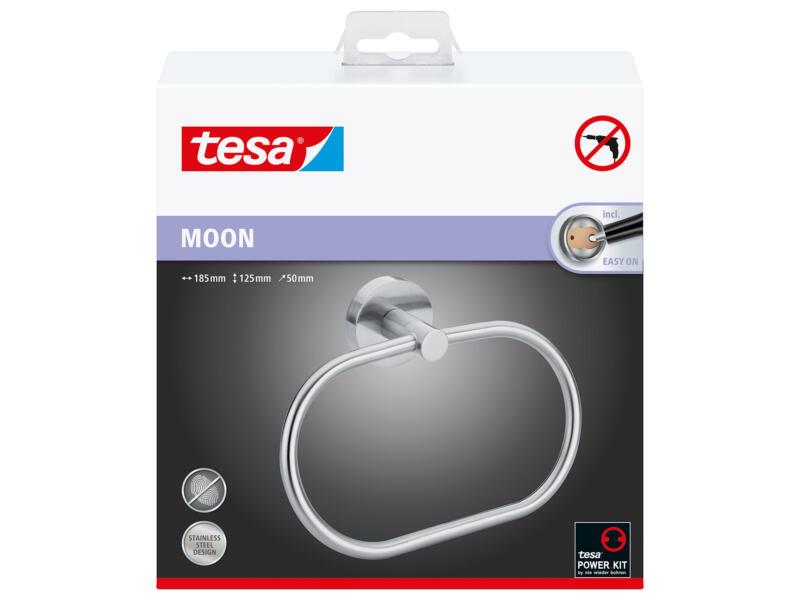 Tesa Moon handdoekring inox zelfklevend 125x185x50 mm