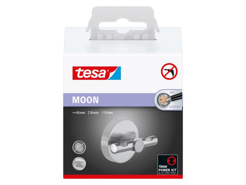 Tesa Moon waterproof haak chroom zelfklevend 50x65x35 mm