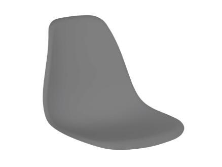 Practo Home Mora siège de chaise 44x46x53 cm anthracite