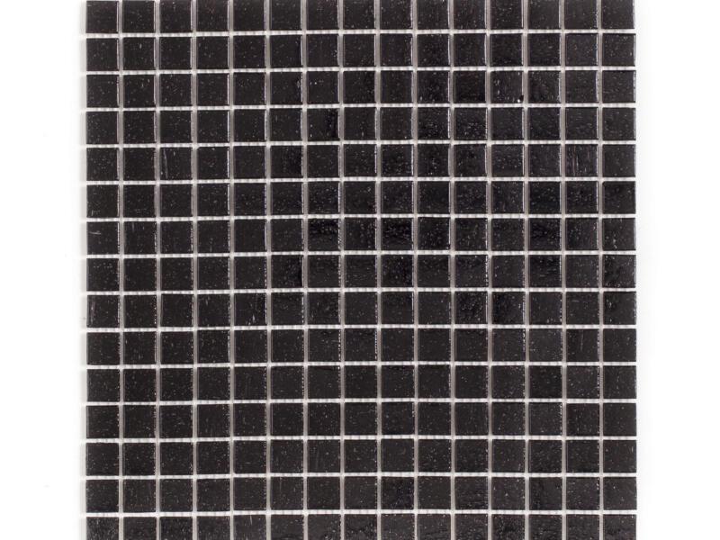 Mosaïque en verre 32,7x32,7 cm 2x2 cm 1,07m² noir