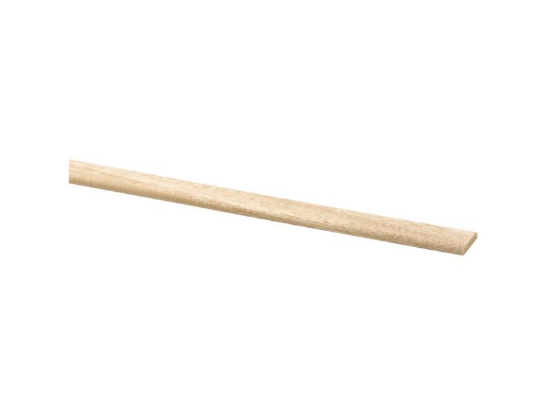 Moulure couvre-joints 22x4 mm 240cm bois dur blanc