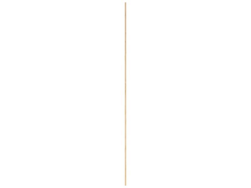 Moulure creuse 27x27 mm 240cm bois dur blanc