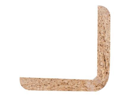 Moulure d'angle 27x27 mm 240cm bois dur