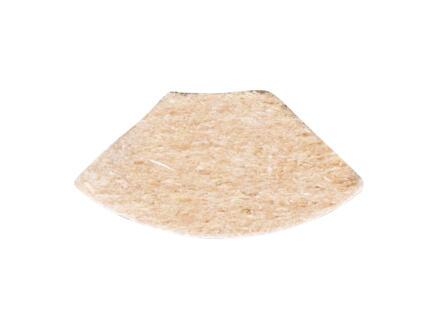 Moulure quart-de-rond 13x13 mm 260cm blanc structure bois