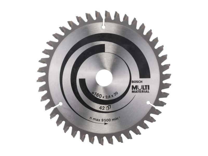 Bosch Professional Multi Material lame de scie circulaire 160mm 42D