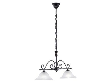Eglo Murcia hanglamp E27 2x60 W zwart