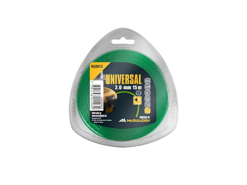 Universal NLO 013 fil pour coupe-bordures 2mm 15m