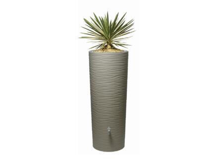 Garantia Natura tonneau de pluie 350l et pot à fleurs 2-en-1 brun