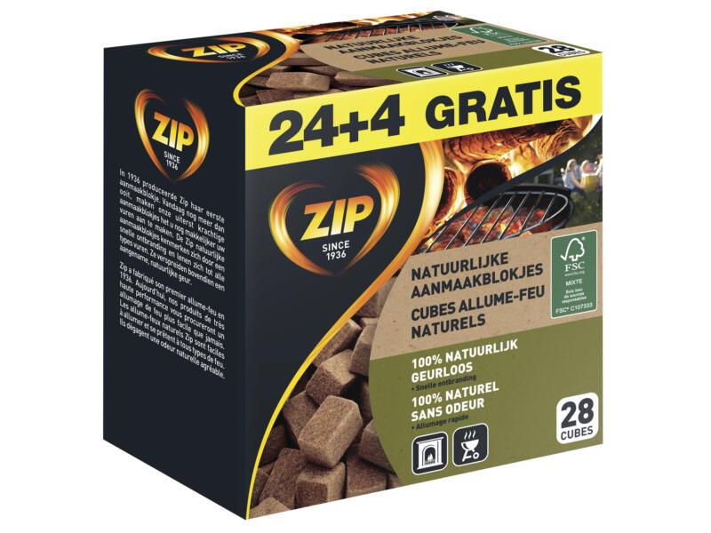 Natural Individual cubes allume-feu  24 + 4 gratuits
