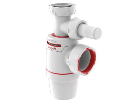 Wirquin Neo Air siphon lavabo 40mm + raccord machine à laver