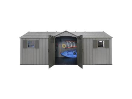Lifetime Neptune tuinhuis 610x243x241 cm kunststof donkergrijs