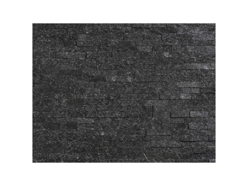 Nero brique de parement 0,42m² noir 12 pièces