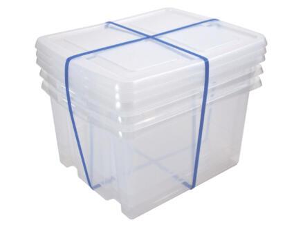 Sunware Nesta boîte de rangement 32l couvercle transparent
