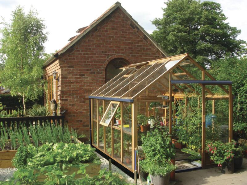 Juliana New Classic 108 serre de jardin verre de sécurité bois   Hubo