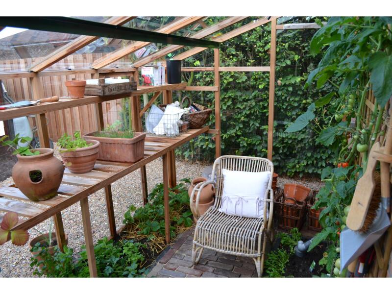Juliana New Classic Lean-To 106 muurserre veiligheidsglas hout