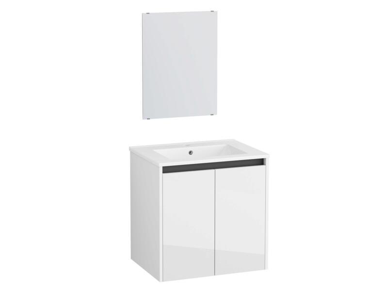 New First badkamermeubel 60cm 2 deuren wit