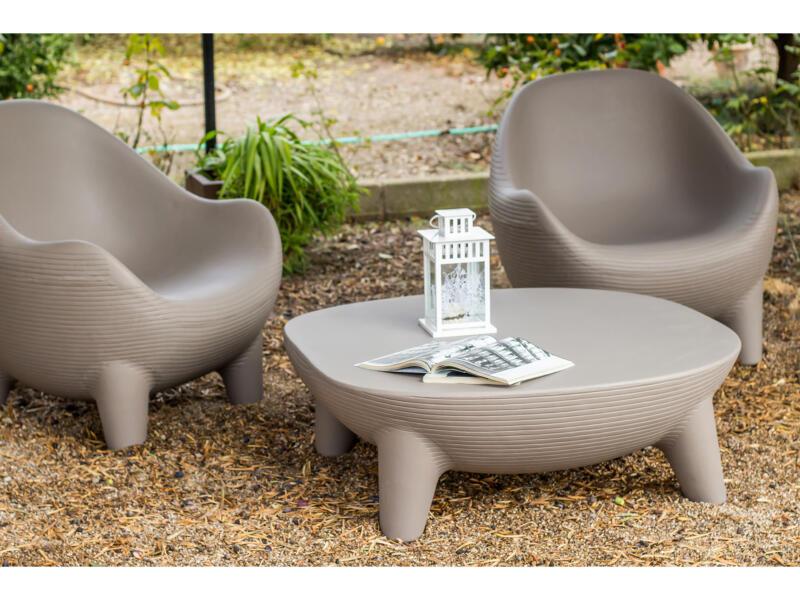 New Islands ensemble de jardin avec 2 fauteuils et canapé taupe