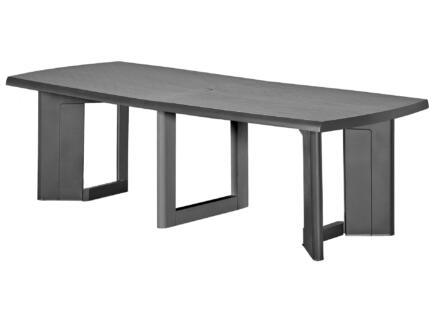 Allibert New York table de jardin 200x105 cm extensible jusqu'à 260cm gris