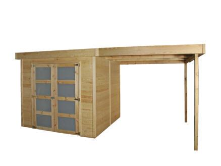 Gardenas New York tuinhuis 236x240x223 cm hout + aanbouw 240cm