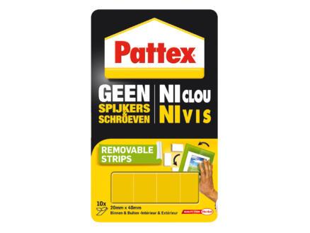Pattex Ni Clou Ni Vis bande de fixation détachable 20x40 mm jaune 10 pièces