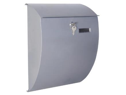 Perel Nice brievenbus gegalvaniseerd staal zilver