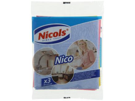 Nicols Nico lavette multi-usage 3 pièces