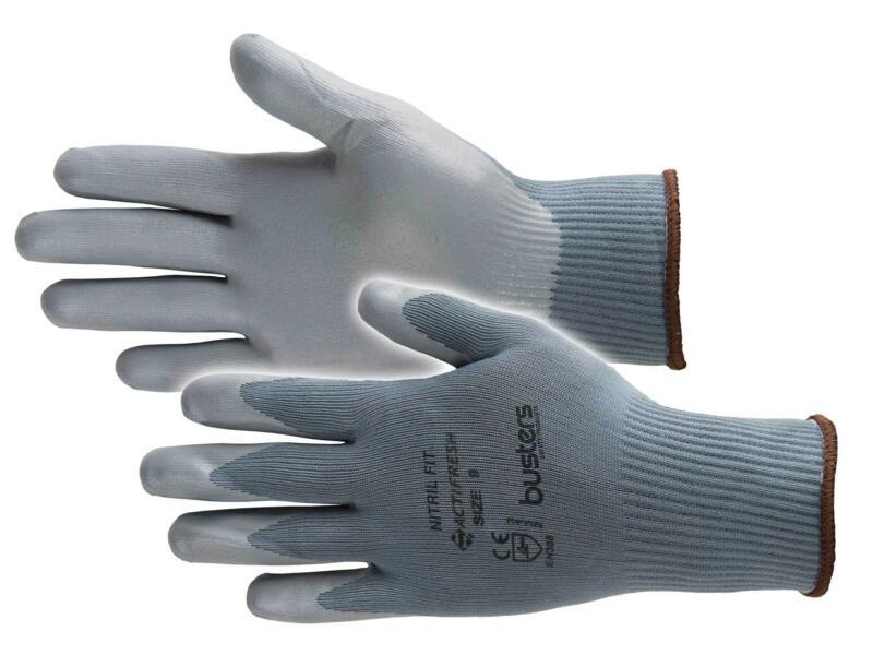 Busters Nitril Fit gants de travail L nylon gris
