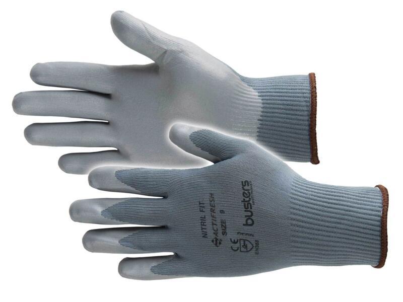 Busters Nitril Fit werkhandschoenen M nylon grijs