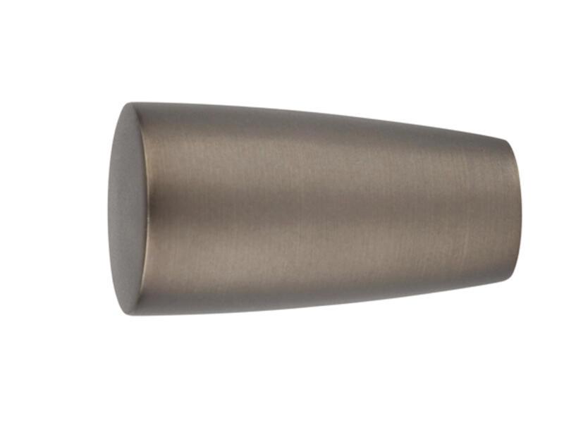 Noble eindstuk gordijnroede 25mm brons