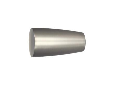 Noble eindstuk gordijnroede 25mm inox look