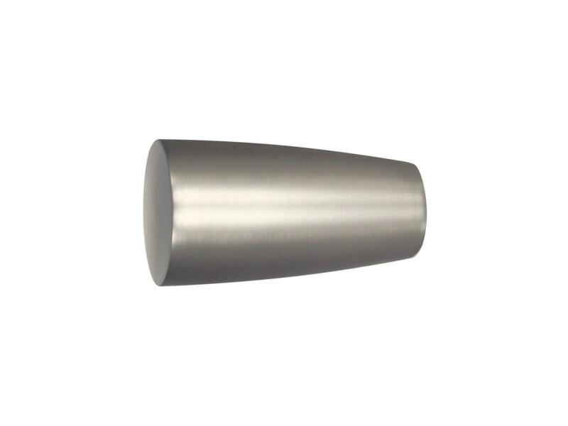 Noble embout pour tringle à rideau 25mm look inox