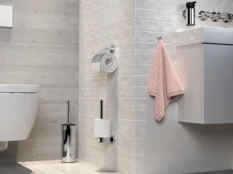 Tiger Noon brosse WC avec support à poser chrome