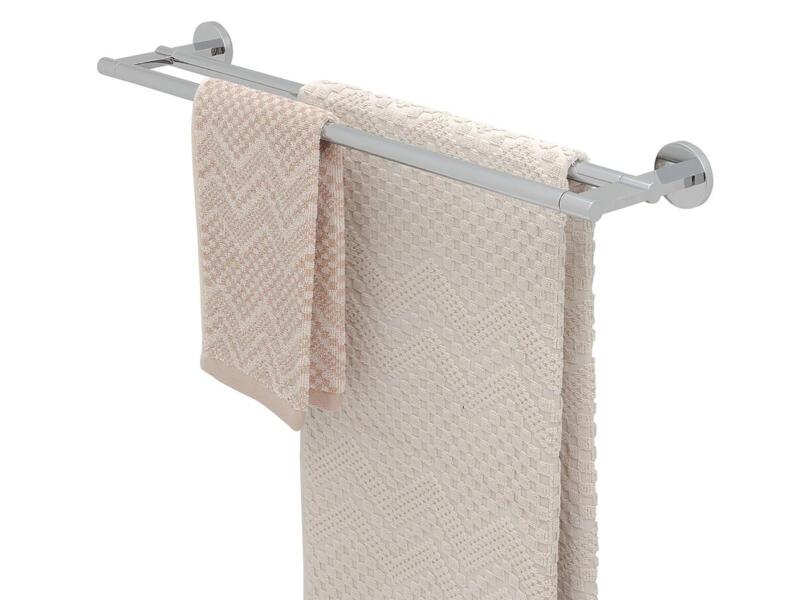 Tiger Noon porte-serviettes 2 barres 60cm chrome