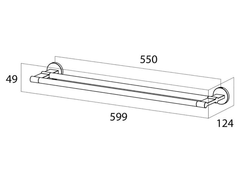 Tiger Noon porte-serviettes 2 barres 60cm inox