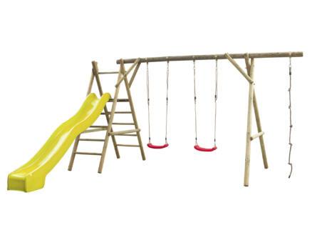 Noortje speeltoestel + glijbaan geel met wateraansluiting