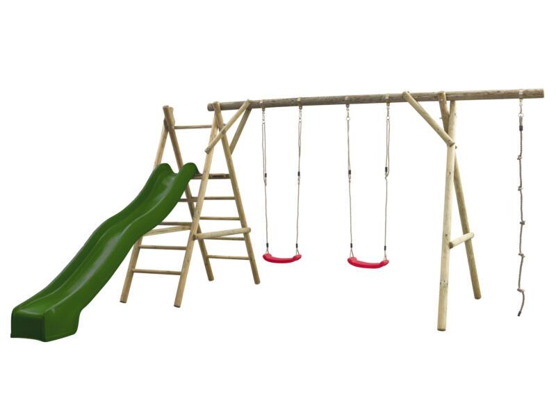 Noortje speeltoestel + glijbaan groen met wateraansluiting