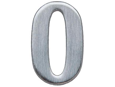 Yale Numéro de maison 0 inox 50mm