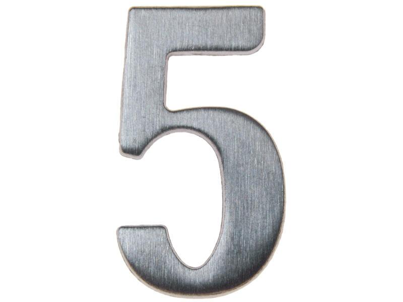 Yale Numéro de maison 5 inox 50mm