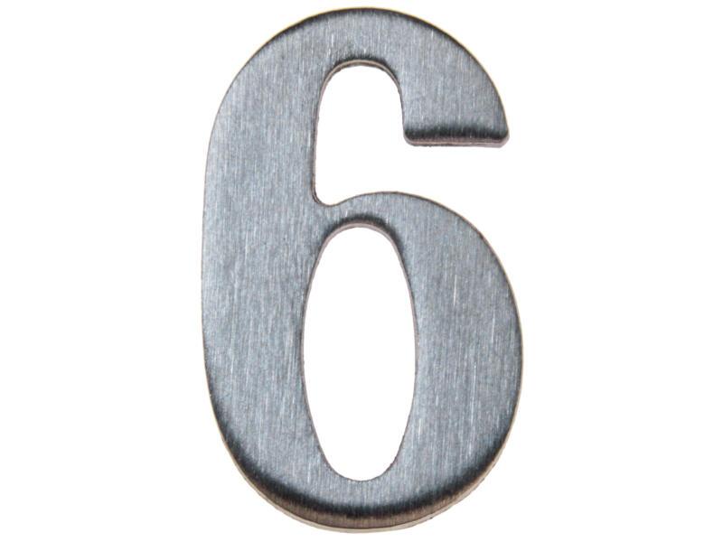 Yale Numéro de maison 6 inox 50mm