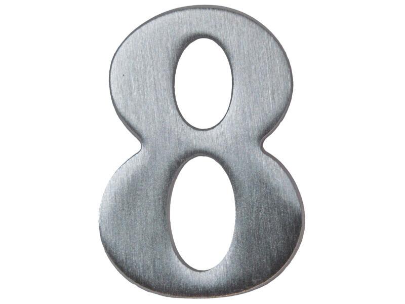 Yale Numéro de maison 8 inox 50mm