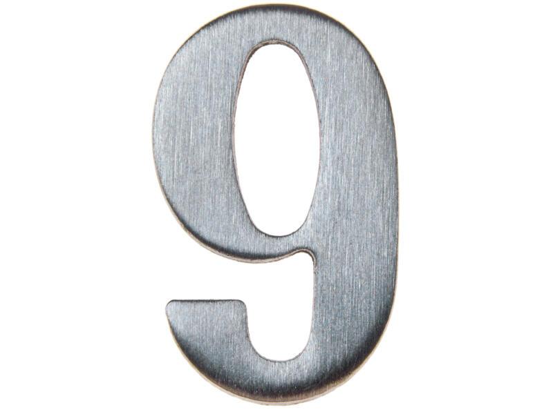 Yale Numéro de maison 9 inox 50mm