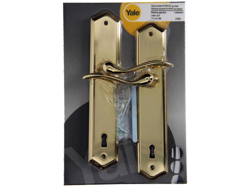 Yale Nymphe BB110 poignée de porte avec plaques 50mm set complet poli