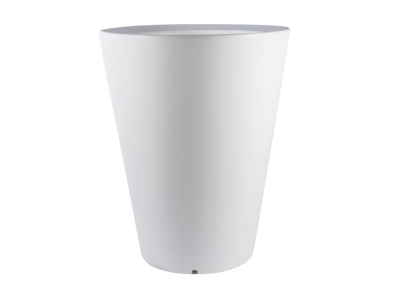 Olla 100 pot à fleurs conique 80cm blanc